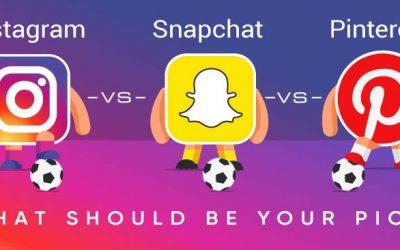Instagram vs. Pinterest vs. Snapchat