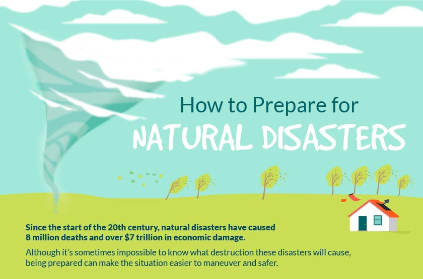how to be prepared for a natural disaster