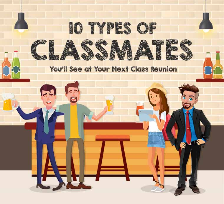 10 types of classmates you ll see at your next class reunion