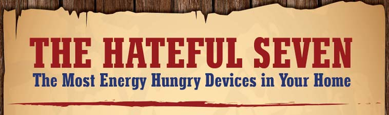The Hateful Seven – The Most Energy Hungry Devices in Your Home