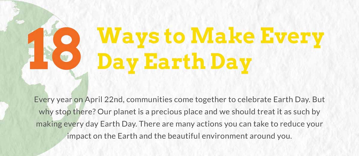 18 Ways to Make Every Day Earth Day
