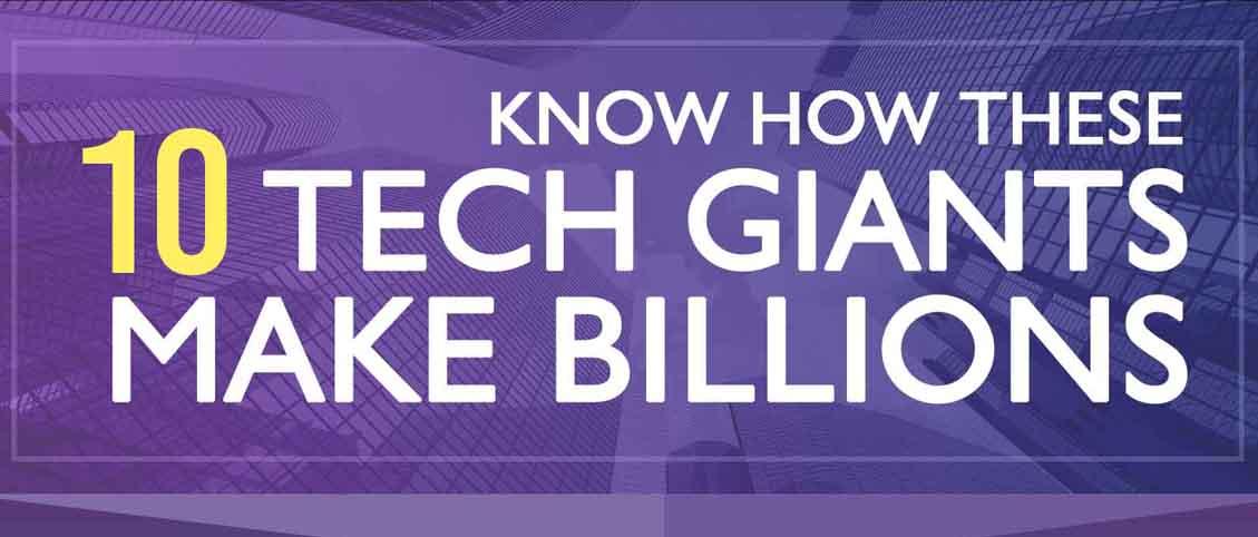 How 10 Top Tech Giants Make Money
