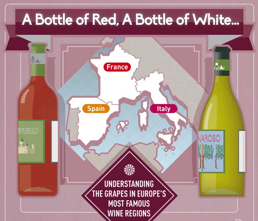 A Bottle of Red, A Bottle of White: Europe's Wine Regions