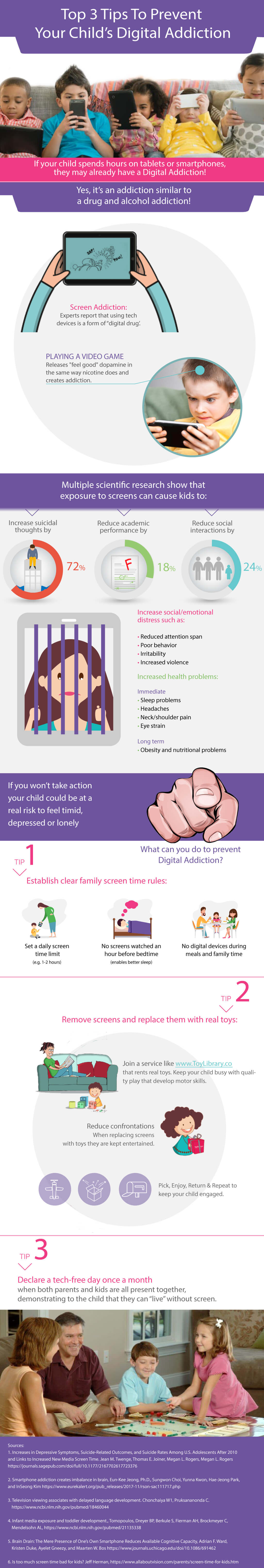 3 Guaranteed Ways to Prevent Your Kid's Digital Addiction