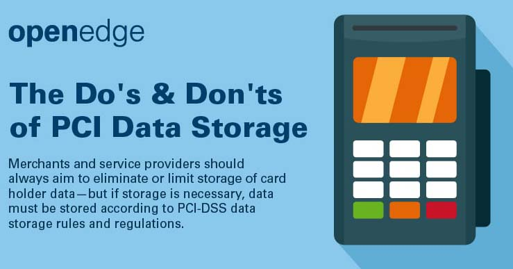 Do's and Don'ts of PCI Data Storage