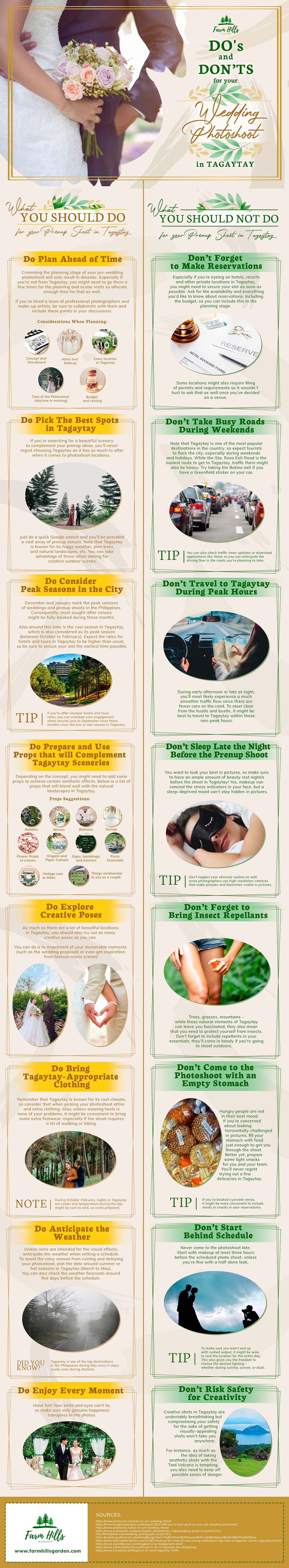 Do's and Don'ts for Your Wedding Photo-Shoot in Tagaytay