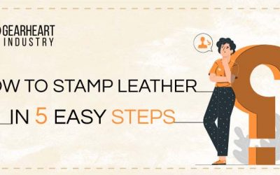 How To Stamp Leather with a Custom Stamp & Mallet