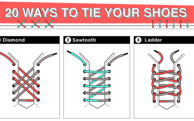 20 Ways to Tie Your Shoes
