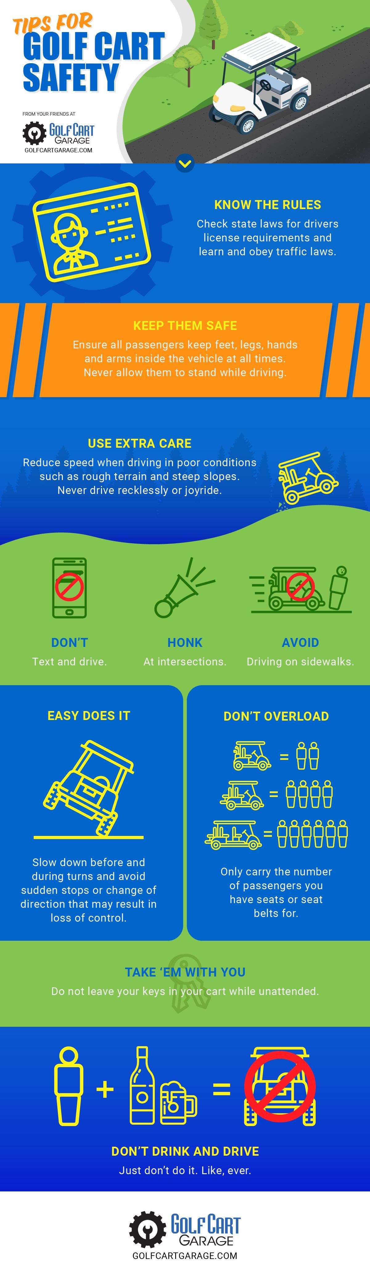 Golf Cart Safety Tips