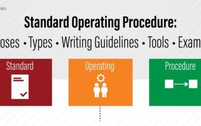 Standard Operating Procedure Summarized